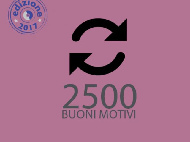 2500 buoni motivi - Comune di Cantagallo